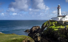 Picture the ocean, coast, lighthouse, Ireland, Ireland, The Atlantic ocean, Atlantic Ocean, Fanad Head Lighthouse, County ...