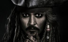 Picture Johnny Depp, cinema, pirate, hat, man, movie, tatoo, face, Jack Sparrow, film, kaizoku, Pirates of …