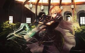 Picture sword, armor, anime, ken, blade, manga, japanese, bishojo