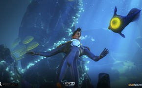 Picture people, fish, Subnautica, reaction