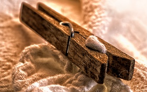 Picture macro, background, clothespin