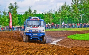 Picture Grass, Sport, Speed, People, Turn, Race, Master, Dirt, Squirt, Russia, Kamaz, Rally, Rally, KAMAZ, Master, ...