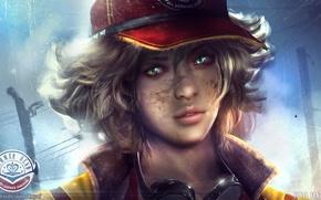 Picture girl, hair, beauty, dirt, glasses, form, cap, Final Fantasy, art, cindy, dirty, Final Fantasy XV, …