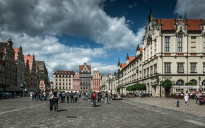 Picture Area, Street, Poland, Building, Architecture, Street, Poland, Town, Architecture, Wroclaw, Wroclaw