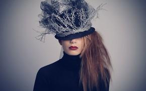 Wallpaper style, girl, hat
