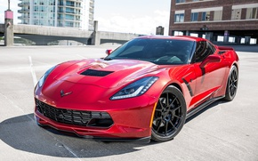 Picture Corvette, Chevrolet, One, Forged, Stingray, Wheels, Piece, GA1R, Forgeline, Monoblock