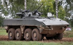"Wallpaper Boomerang, on the platform 7829 ""boomerang"", manned combat unit Б05Я01 Berezhok, Wheeled infantry fighting vehicle, ..."