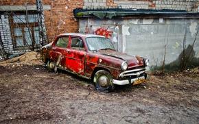 Picture machine, scrap, Moskvich 407