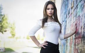 Wallpaper face, style, background, model, Antoinette
