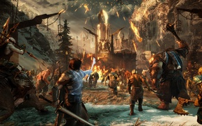 Wallpaper fight, Shadow of War, Middle-earth Shadow of War, Shadow Of War, ken, sword, troll, Middle-earth, ...