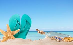 Wallpaper summer, the sun, slates, starfish, summer, vacation, sand, sea, sand, shell, beach, seashells, beach, vacation, ...