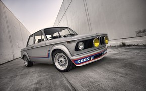 Picture Auto, BMW, Machine, Grey, Lights, Car, 2002, The front, 02 Series, German, BMW 02 Series, …