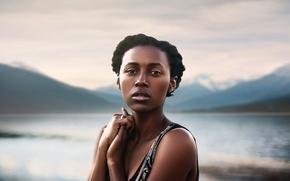 Picture landscape, portrait, black girl, Anita Wilson