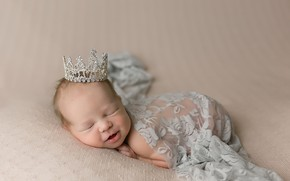 Picture angel, crown, baby