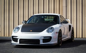 Picture Porsche, Black, White, Wheels, GT2RS