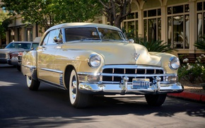 Wallpaper retro, Cadillac, classic, 1949, Series 62