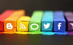 Wallpaper colors, computer, internet, media, Social