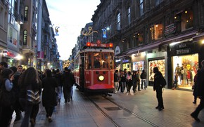 Picture The city, Street, Tram, Avenue