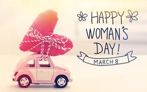 Wallpaper Women's Day, romantic, gift, March 8, happy, heart, hearts