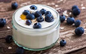 Picture berries, blueberries, yogurt