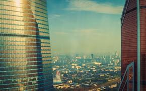 Picture city, dark, light, summer, sky, deep, sunset, beautiful, view, skyscraper, clouds, evening, morning, sun, dawn, …