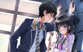 Picture blush, asian, suit, manga, japanese, oriental, asiatic, tie, Yasaka High School, Masamune-Only no Revenge, Masamune …