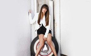 Picture look, girl, hair, jacket, Lea Michele