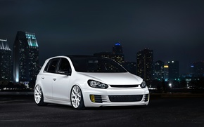 Picture Volkswagen, golf, White, GTI, MK6