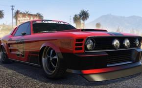 Picture Mustang, cars, Grand Theft Auto V, gta 5, Gta, Gta Online, Vapid Ellie