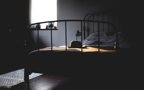 Picture bed, hat, window