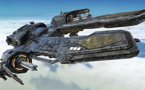 Picture the sky, clouds, transport, camera, Arachnid Class Destroyer