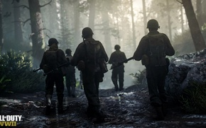 Picture Call of Duty, Front, Company, Soldiers, COD:WWll, Call of duty:WW2, In game footage