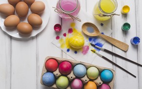 Picture Flowers, Tulips, Easter, Eggs, Decoration, Holiday, Paint, Mood, Brush