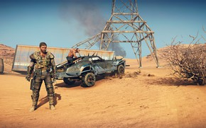 Picture car, game, sand, Mad Max, suna