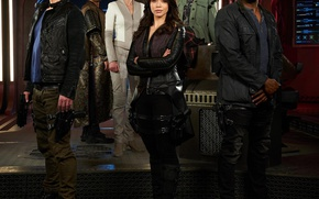 Picture look, ship, gun, The series, actors, the bridge, Movies, Dark matter, Dark Matter