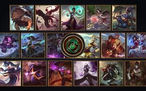Picture wallpaper, sword, logo, game, monkey, fox, ken, blade, gorilla, League of Legends, Ahri, LOL, powerful, …