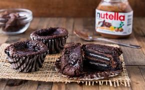 Picture food, chocolate, cream, cakes, cupcakes