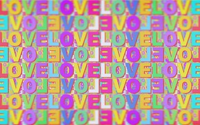 Picture love, text, letters, love, the word