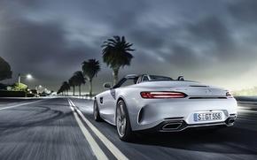 Picture car, Mercedes, speed, asphalt, Mercedes AMG, Mercedes AMG GT C, Mercedes AMG GT C Roadster, …