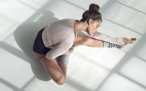Wallpaper pose, Nina Agdal, stretching, figure, Model, Nina Agdal, fitness, stretching