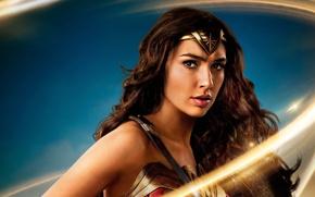 Wallpaper cinema, gauntlet, armor, Diana, brunette, Themyscira, Batman v Superman Dawn of Justice, movie, film, Wonder ...