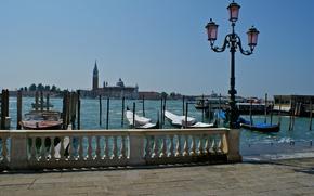 Picture boat, Italy, Venice, gondola, Piazzetta, The Grand Canal