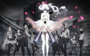 Picture weapons, anime, art, characters, Caligula