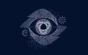 Wallpaper Patterns, The dark background, Hugin and Munin, The Eye Of Odin