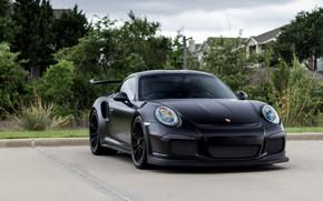 Picture Porsche, Black, Matte, GT3RS, 991