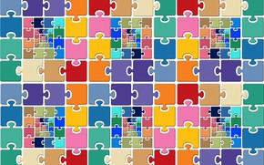 Picture puzzles, color, puzzle