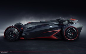 Picture twilight, car, batmobile concept