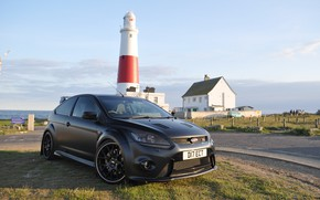 Picture Ford, Focus, black, lighthouse, matte