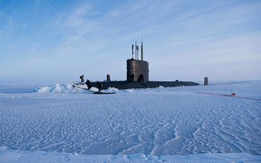 Picture ascent, ice, submarine, hms trenchant