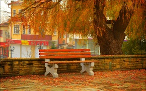 Picture Autumn, Bench, Street, Fall, Foliage, Autumn, Street, Colors, Leaves